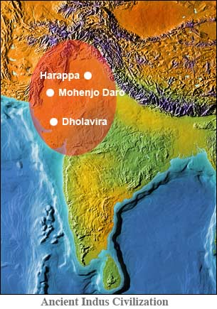 Ancient India Map Harappa.Ancient India Culture Started With The Beginning Of The Human Race