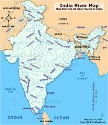 The Ganges River Indus River And Oceans Surrounding India - World map indus river