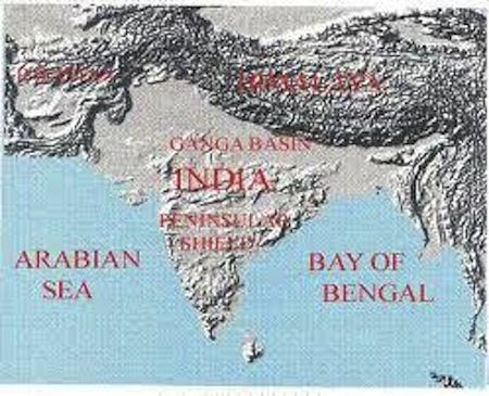 india geography, geography of india, map of india