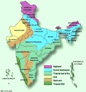 climate of india, india geography, geography of india, india states