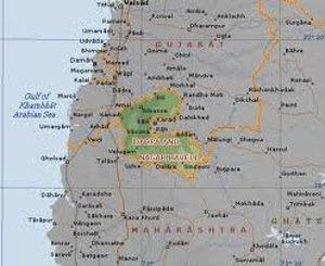 dadra an nagar haveli, physical map of india, union territories, states