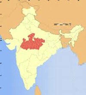 madhya pradesh, india states, physical map of india