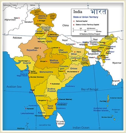 physical map of india, india states, india today